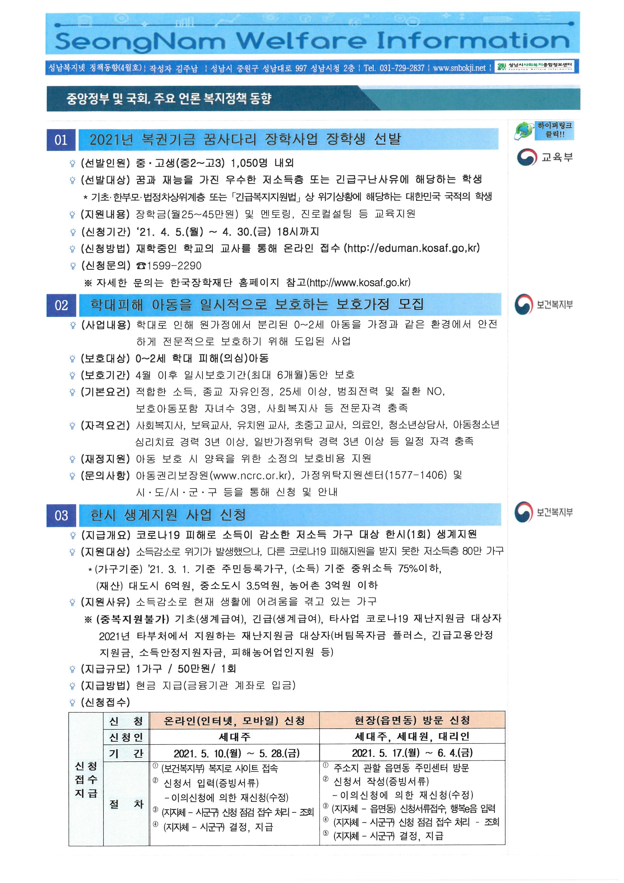 복지정책동향 2021년 4월호